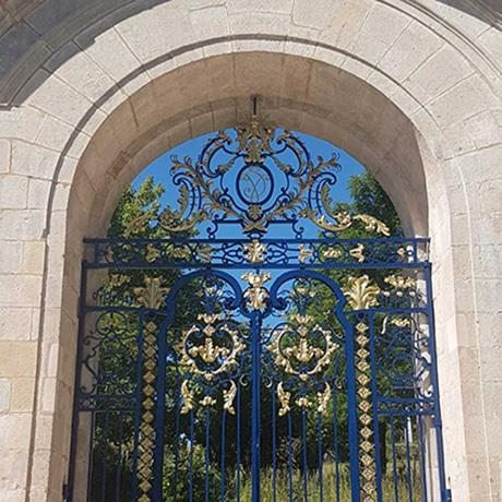 Grille d'honneur dite de Jean Lamour, abbaye d'Auberive